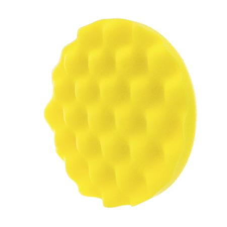RRC WAVE Żółta Średnia gąbka polerska 135mm / Pad polerski